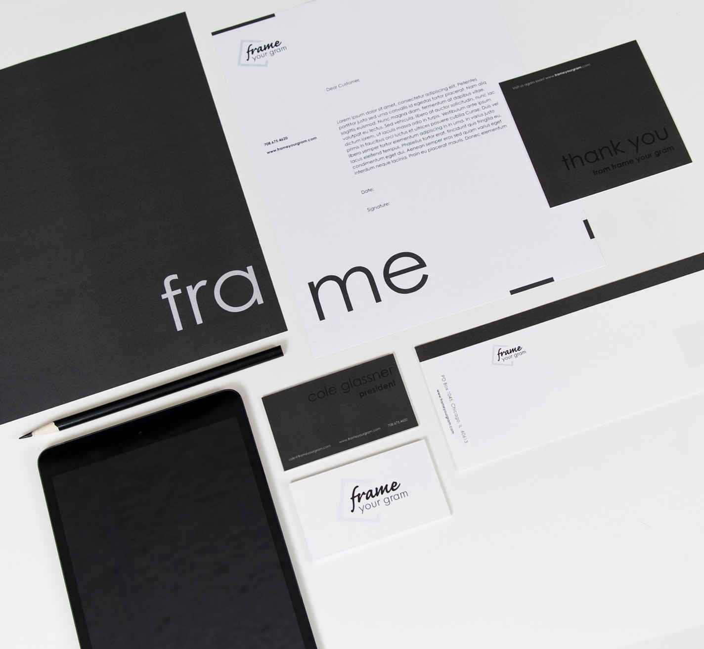 Frame Your Gram - Web Design