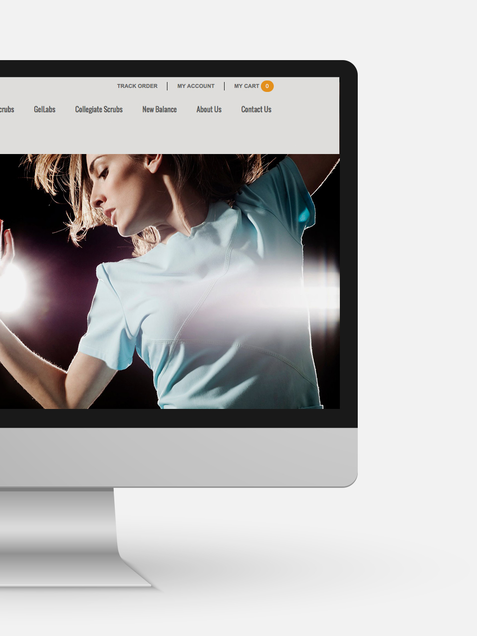 sport fashion brand web design