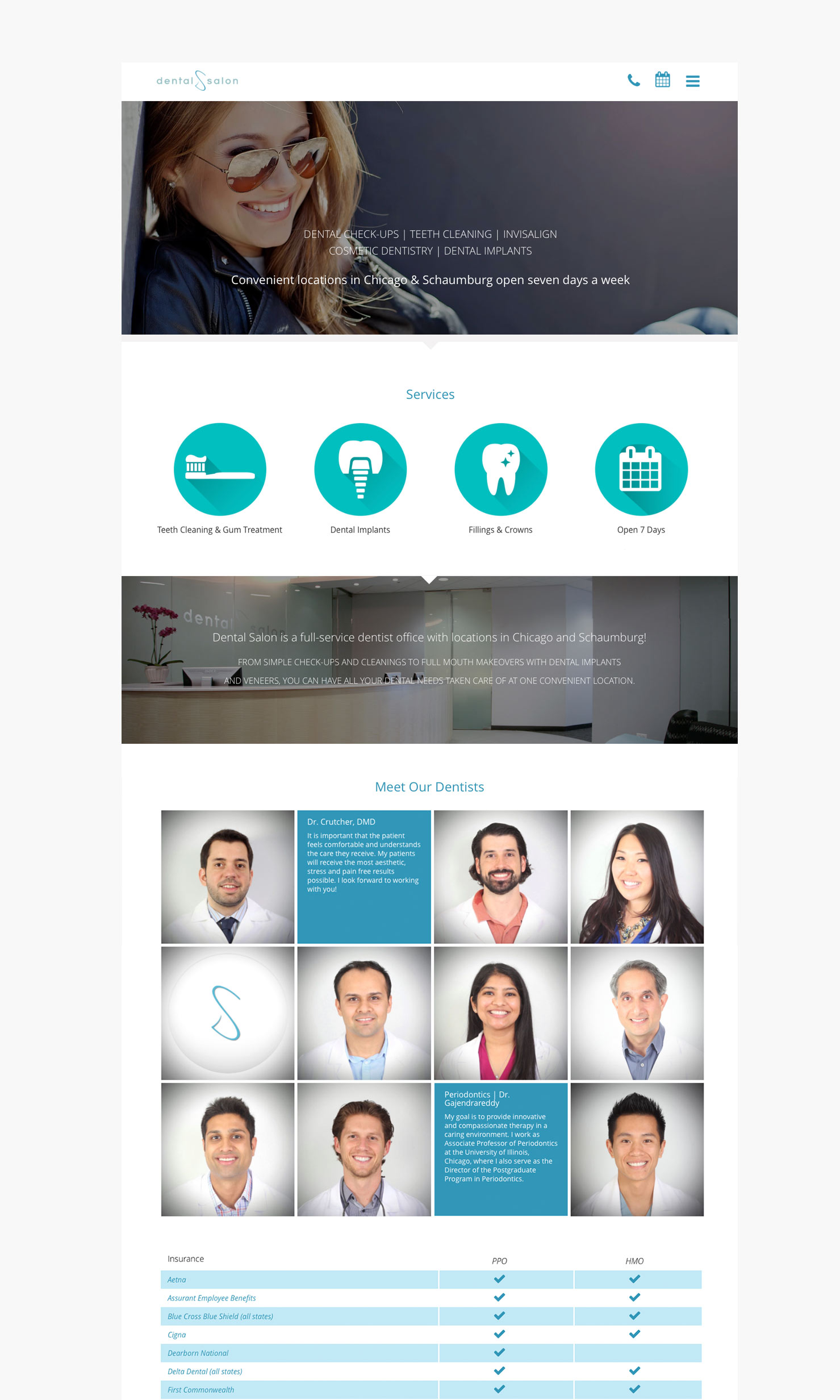 dental web design chicago