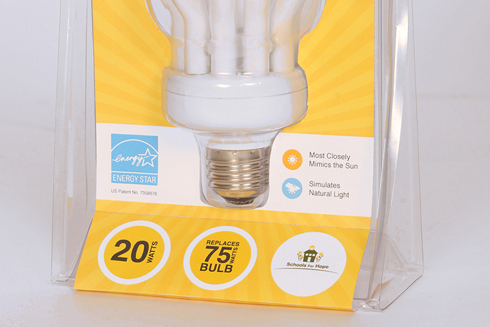 light bulb packaging design