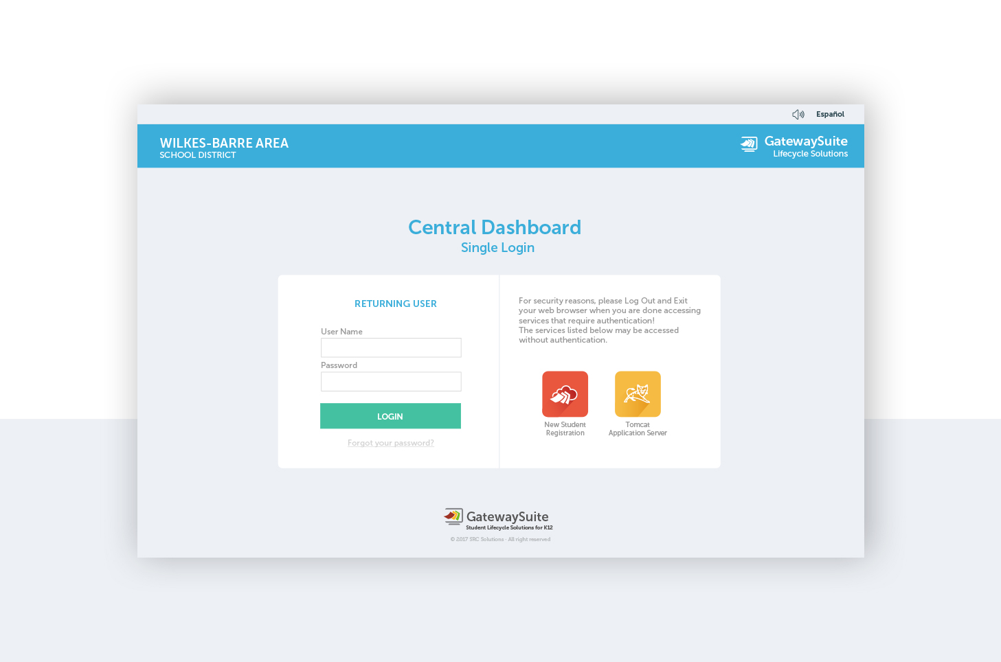 Central Dashboard Design