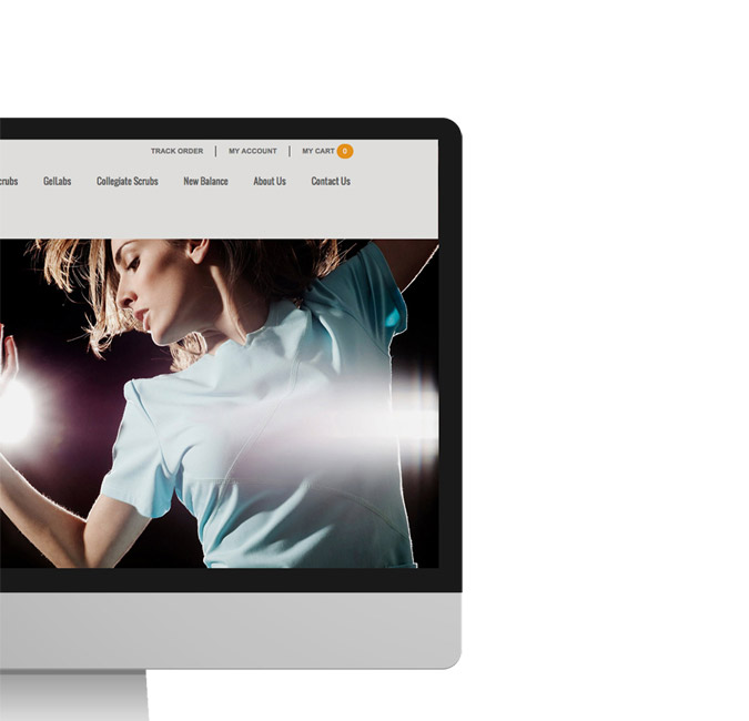 Web Design - Homepage on a screen