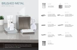 brushed metal catalog spread