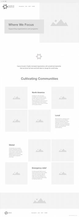 long wireframe page